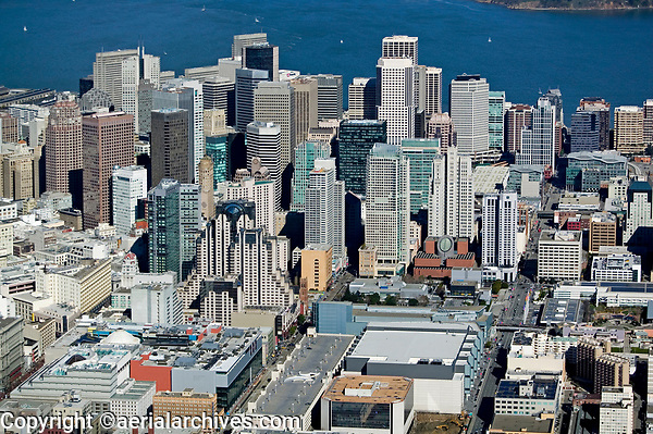 historical aerial photograph SOMA, San Francisco, California, 2006
