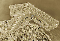 historical aerial photo map of LaGuardia International Airport (LGA) Queens, New York, 1954