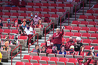 Arkansas fans cheer on the Razorback women's team as they take on Texas A&M Sunday Jan. 10, 2021 at Bud Walton Arena in Fayetteville. The Razorback women play at home again Thursday against Florida. Visit nwaonline.com/210111Daily/ and nwadg.com/photos. (NWA Democrat-Gazette/J.T. Wampler)
