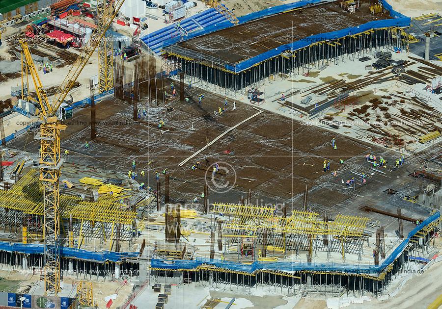 QATAR, Doha, construction site Sportpark Aspire Academy for Sports Excellence for FIFA world cup 2022 / KATAR, Doha, Baustelle Sportpark Aspire Academy for Sports Excellence fuer die  FIFA Fussballweltmeisterschaft 2022, auf den Baustellen arbeiten Gastarbeiter aus Indien, Nepal, Pakistan und weiteren Ländern