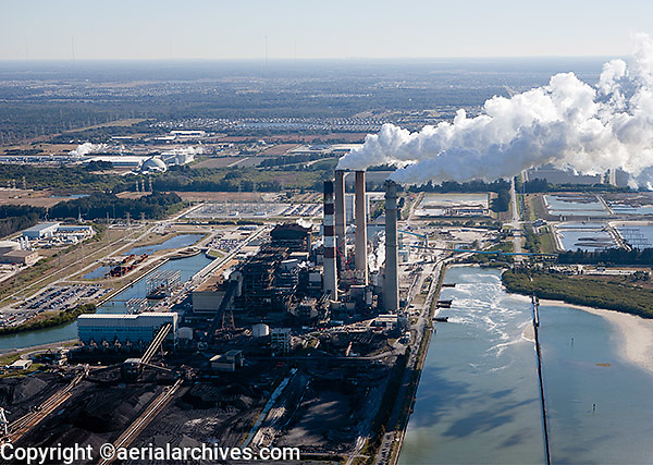aerial photograph Big Bend Power Station Tampa, Florida