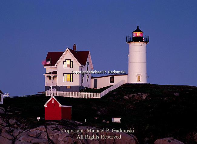 Cape Neddick Light on Nubble Island near York Maine was bilut in 1879