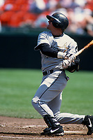 SAN FRANCISCO, CA:  Craig Biggio of the Houston Astros bats during a game against the San Francisco Giants at Candlestick Park in San Francisco, California on April 15, 1999. (Photo by Brad Mangin)