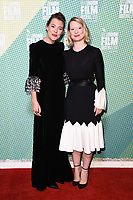 """Mirrah Foulkes and Mia Wasikovska<br /> arriving for the """"Judy and Punch"""" london Film Festival 2019 screening at Embankment Gardens, London<br /> <br /> ©Ash Knotek  D3523 12/10/2019"""