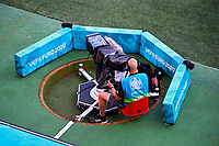 COPENHAGEN, DENMARK - JUNE 17 : Illustration of cameraman in bunker during the 16th UEFA Euro 2020 Championship Group B match between Denmark and Belgium on June 17, 2021 in Copenhagen, Denmark, 17/06/2021  <br /> Photo Photonews / Panoramic / Insidefoto <br /> ITALY ONLY