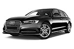 Stock pictures of low aggressive front three quarter view of a 2018 Audi A6 Avant S Line Select Doors Door Wagon
