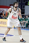 Real Madrid's Sergio Llull during Euroleague match.January 22,2015. (ALTERPHOTOS/Acero)