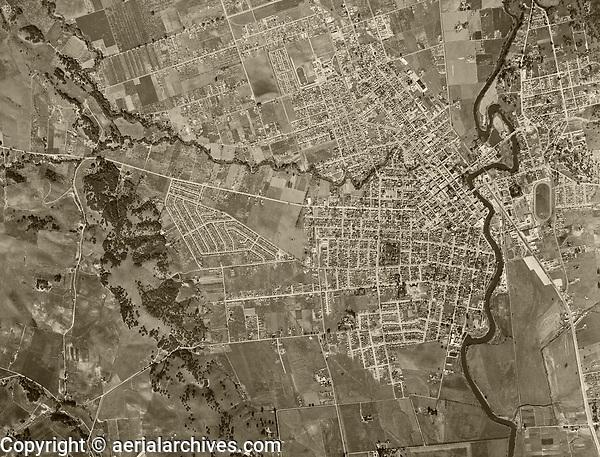 historical aerial photo map of Napa, California, 1948