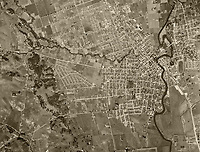 historical aerial photo map of Napa, California, 1948