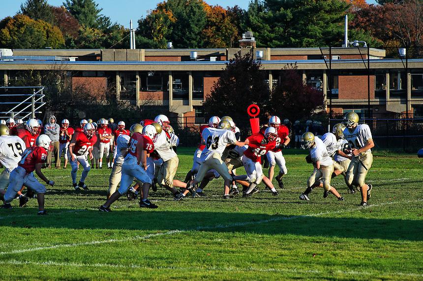 High school football game.