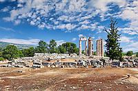 The Temple of Zeus (330 B.C.) in Nemea, Greece