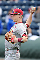 Infielder Erik Payne (30) of the South Carolina Gamecocks before a game against the Furman Paladins on Wednesday, April 3, 2013, at Fluor Field at the West End in Greenville, South Carolina. (Tom Priddy/Four Seam Images)