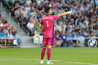 SAINT PAUL, MN - JULY 3: JT Marcinkowski #1 of the San Jose Earthquakes during a game between San Jose Earthquakes and Minnesota United FC at Allianz Field on July 3, 2021 in Saint Paul, Minnesota.