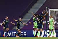 30th August 2020, San Sebastien, Spain;  Saki Kumagai of Lyon celebrates scoring Lyons second goal for 0-2, on 44 min during the UEFA Womens Champions League football match Final between VfL Wolfsburg and Olympique Lyonnais.