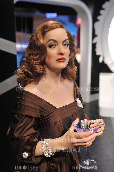 Bette Davis waxwork figure - grand opening of Madame Tussauds Hollywood. The new $55 million attraction is the first ever Madame Tussauds in the world to be built from the ground up. It is located on Hollywood Boulevard immediately next to the world-famous Grauman's Chinese Theatre..July 21, 2009  Los Angeles, CA.Picture: Paul Smith / Featureflash