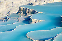 Pictures & Image  of Pamukkale Travetine Terrace, Turkey. Images of the white Calcium carbonate rock formations. Buy as stock photos or as photo art prints. 5 Pamukkale travetine terrace water cascades, composed of white Calcium carbonate rock formations, Pamukkale, Anatolia, Turkey