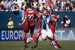 David Timor Copovi of Deportivo Leganes battles for the ball with N'Zonzi of Sevilla FC during their La Liga match between Deportivo Leganes and Sevilla FC at the Butarque Municipal Stadium on 15 October 2016 in Madrid, Spain. Photo by Diego Gonzalez Souto / Power Sport Images