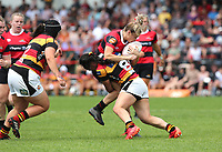 Action from the 2020 Farah Palmer Cup women's rugby final between Canterbury and Waikato at Rugby Park in Christchurch, New Zealand on Saturday, 31 October 2020. Photo: Martin Hunter / lintottphoto.co.nz