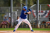 Indiana State Sycamores Brandt Nowaskie (16) bats during a game against the Chicago State Cougars on February 23, 2020 at North Charlotte Regional Park in Port Charlotte, Florida.  Chicago State defeated Indiana State 3-0.  (Mike Janes/Four Seam Images)
