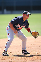 March 21st 2008:  Danny Brezeale of the Atlanta Braves minor league system during Spring Training at Tiger Town in Lakeland, FL.  Photo by:  Mike Janes/Four Seam Images