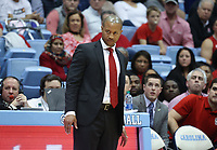 CHAPEL HILL, NC - FEBRUARY 25: Assistant coach Takayo Siddle of North Carolina State University during a game between NC State and North Carolina at Dean E. Smith Center on February 25, 2020 in Chapel Hill, North Carolina.