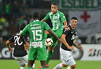 MEDELLÍN - COLOMBIA ,28-02-2019:Acción de juego entre los equipos Atlético Nacional de Colombia  y  Libertad de Paraguay durante partido por la Copa Conmebol Libertadores 2019 ,  tercera fase , llave 3,jugado en el estadio Atanasio Girardot de la ciudad de Medellín. / Action game between Atlético Nacional of Colombia and Libertad of Paraguay during match for the Copa Conmebol Libertadores 2019, third phase, key 3, played at the Atanasio Girardot stadium in the city of Medellin. Photo: VizzorImage / León Monsalve / Contribuidor.