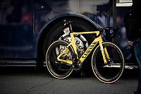 Mathieu Van der Poels (NED/Alpecin-Fenix) yellow machine post-race<br /> <br /> Stage 3 from Lorient to Pontivy (183km)<br /> 108th Tour de France 2021 (2.UWT)<br /> <br /> ©kramon