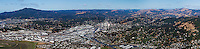 aerial panoramic photograph San Rafael, Marin County, California