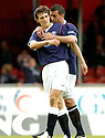 12/05/2007       Copyright Pic: James Stewart.File Name : sct_jspa17_falkirk_v_dundee_utd.ALAN GOW KEEPS HIS EYE ON SOMEONE IN THE CROWD AS HE CELEBRATES SCORING FALKIRK'S SECOND.....James Stewart Photo Agency 19 Carronlea Drive, Falkirk. FK2 8DN      Vat Reg No. 607 6932 25.Office     : +44 (0)1324 570906     .Mobile   : +44 (0)7721 416997.Fax         : +44 (0)1324 570906.E-mail  :  jim@jspa.co.uk.If you require further information then contact Jim Stewart on any of the numbers above.........