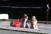 Manning Provincial Park, Southwestern BC, British Columbia, Canada - Girls Sunbathing