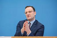 """Bundesgesundheitsminister Jens Spahn (CDU) stellte am Montag den 1. April 2019 mit den Bundestagsabgeordneten Georg Nuesslein (CDU/CSU), Prof. Karl Lauterbach (SPD) und Petra Sitte (Linkspartei) in Berlin den Gesetzentwurf """"Organspende - doppelte Widerspruchsloesung"""" vor.<br /> Im Bild: Jens Spahn.<br /> 1.4.2019, Berlin<br /> Copyright: Christian-Ditsch.de<br /> [Inhaltsveraendernde Manipulation des Fotos nur nach ausdruecklicher Genehmigung des Fotografen. Vereinbarungen ueber Abtretung von Persoenlichkeitsrechten/Model Release der abgebildeten Person/Personen liegen nicht vor. NO MODEL RELEASE! Nur fuer Redaktionelle Zwecke. Don't publish without copyright Christian-Ditsch.de, Veroeffentlichung nur mit Fotografennennung, sowie gegen Honorar, MwSt. und Beleg. Konto: I N G - D i B a, IBAN DE58500105175400192269, BIC INGDDEFFXXX, Kontakt: post@christian-ditsch.de<br /> Bei der Bearbeitung der Dateiinformationen darf die Urheberkennzeichnung in den EXIF- und  IPTC-Daten nicht entfernt werden, diese sind in digitalen Medien nach §95c UrhG rechtlich geschuetzt. Der Urhebervermerk wird gemaess §13 UrhG verlangt.]"""