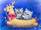Kayomi, CHRISTMAS ANIMALS, WEIHNACHTEN TIERE, NAVIDAD ANIMALES,cat,cats, paintings+++++,USKH356,#xa#
