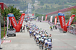The peloton in action during Stage 7 of the 2015 Presidential Tour of Turkey running 166km from Selcuk to Izmir. 2nd May 2015.<br /> Photo: Tour of Turkey/Mario Stiehl/www.newsfile.ie