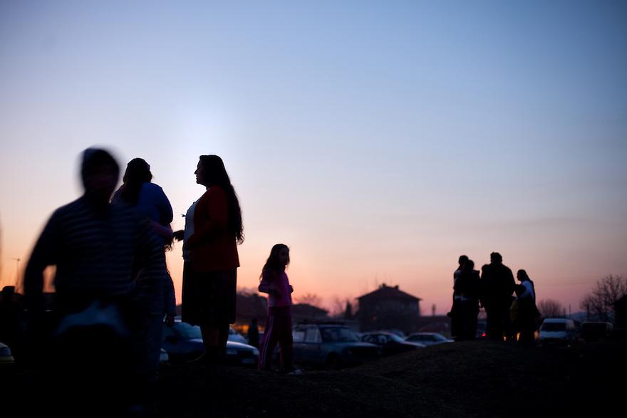 Mogila, Bulgaria--Several thousand Kalaidzhii (a Roma subgroup) attended the annual Kalaidzhi festival at Mogila. .