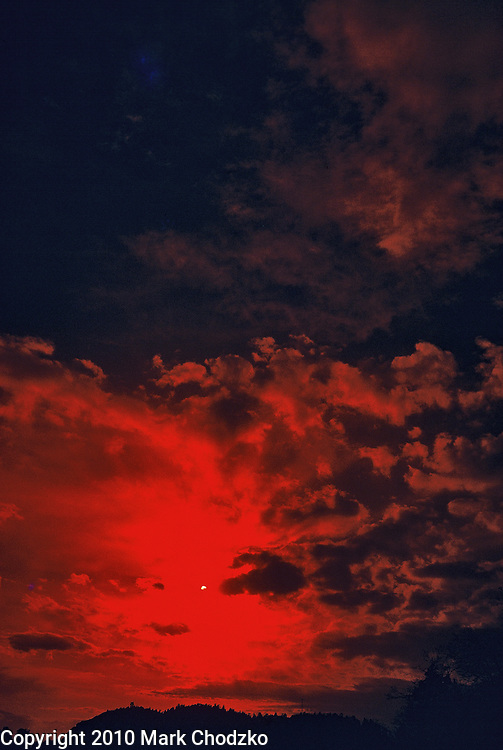 Ominous red sunset