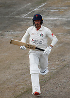 6th July 2021; Emirates Old Trafford, Manchester, Lancashire, England; County Championship Cricket, Lancashire versus Kent, Day 3; Luke Wood of Lancashire takes runs between the wickets on his way to a half century