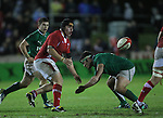 Wales flanker Daniel Thomas finds support..Under 20 Six Nations.Wales v Ireland.Eirias - Colwyn Bay.01.02.13.©Steve Pope