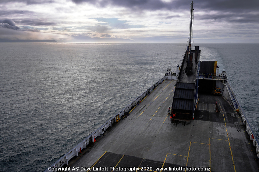 Bluebridge Ferry in Cook Strait, New Zealand on Monday, 20 January 2020. Photo: Dave Lintott / lintottphoto.co.nz