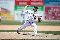 Lynchburg Hillcats relief pitcher Casey Weathers (51) in action against the Frederick Keys at Calvin Falwell Field at Lynchburg City Stadium on May 14, 2015 in Lynchburg, Virginia.  The Hillcats defeated the Keys 6-3.  (Brian Westerholt/Four Seam Images)