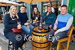 Enjoying a pint outside The Flesk in Killarney on Monday, l to r: Helena Rooney, Kieran Lynch, Bernie Scully, Martin Cremin and Kieran Desmond.