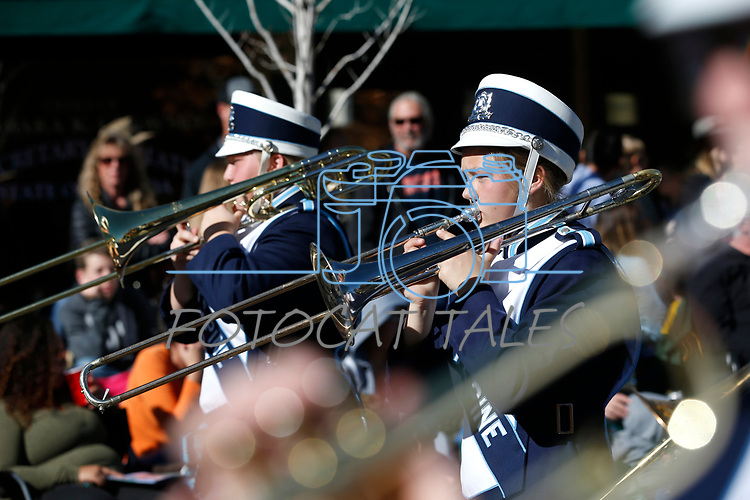 The White Pine Band marches in the Nevada Day parade in Carson City, Nev., on Saturday, Oct. 26, 2019.  <br /> Photo by Cathleen Allison/Nevada Momentum