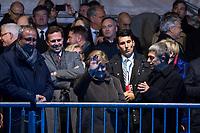 Festveranstaltung zum 30. Jahrestag des Mauerfall am Samstag den 9. November 2019 vor dem Brandenburger Tor.<br /> Im Bild: Bundeskanzlerin Angela Merkel, CDU.<br /> 9.11.2019, Berlin<br /> Copyright: Christian-Ditsch.de<br /> [Inhaltsveraendernde Manipulation des Fotos nur nach ausdruecklicher Genehmigung des Fotografen. Vereinbarungen ueber Abtretung von Persoenlichkeitsrechten/Model Release der abgebildeten Person/Personen liegen nicht vor. NO MODEL RELEASE! Nur fuer Redaktionelle Zwecke. Don't publish without copyright Christian-Ditsch.de, Veroeffentlichung nur mit Fotografennennung, sowie gegen Honorar, MwSt. und Beleg. Konto: I N G - D i B a, IBAN DE58500105175400192269, BIC INGDDEFFXXX, Kontakt: post@christian-ditsch.de<br /> Bei der Bearbeitung der Dateiinformationen darf die Urheberkennzeichnung in den EXIF- und  IPTC-Daten nicht entfernt werden, diese sind in digitalen Medien nach §95c UrhG rechtlich geschuetzt. Der Urhebervermerk wird gemaess §13 UrhG verlangt.]