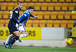 St Johnstone v Dundee….03.04.19   McDiarmid Park   SPFL<br />Matty Kennedy scores to make it 2-0<br />Picture by Graeme Hart. <br />Copyright Perthshire Picture Agency<br />Tel: 01738 623350  Mobile: 07990 594431