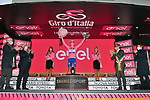 Race leader Joao Almeida (POR) Deceuninck-Quick Step retains the Maglia Rosa at the end of Stage 11 of the 103rd edition of the Giro d'Italia 2020 running 182km from Porto Sant'Elpidio to Rimini, Italy. 14th October 2020.  <br /> Picture: LaPresse/Massimo Paolone | Cyclefile<br /> <br /> All photos usage must carry mandatory copyright credit (© Cyclefile | LaPresse/Massimo Paolone)