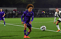 Anderlecht midfielder Kassandra Missipo (12) pictured during a female soccer game between Sporting Charleroi and RSC Anderlecht on the third matchday of the 2020 - 2021 season of Belgian Scooore Womens Super League , friday 2 nd of October 2020  in Marcinelle , Belgium . PHOTO SPORTPIX.BE | SPP | DAVID CATRY