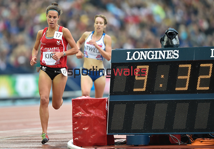 Wales Elinor Kirk in action during the Woman's 5000 meter final <br /> <br /> Photographer Ian Cook/Sportingwales<br /> <br /> 20th Commonwealth Games - Day 10 - Saturday 2nd August 2014 - Athletics -  Hamden Park - Glasgow - UK