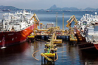 Liquefied natural gas ( LNG ) vessels Exquisite and Excelsior operating at Excelerate Energy  / Petrobras facility in Guanabara Bay.