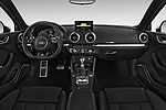 Stock photo of straight dashboard view of 2015 Audi S3 Premium Plus 4 Door Sedan