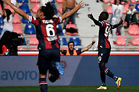 Musa Barrow of Bologna FC celebrates after scoring the goal of 1-0 during the Serie A football match between Bologna FC and SS Lazio at Renato Dall'Ara stadium in Bologna (Italy), October 3rd, 2021. Photo Andrea Staccioli / Insidefoto