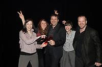 Montreal (QC) CANADA - May 18  2011  Gala NUMIX :  Production Convergence - Section Jeunesse. Gagnant : Les Myst??res d'Alfred - tribal Nova - ODD1 : Julie GuÈnette, Fonmd QuÈbÈcor (PrÈsentatrice), Judith Beauregard, ODD1, Guillaume AniortÈ, TRIBAL NOVA, Florence Roche, TRIBAL NOVA, Philippe Lamarre. TOXA<br /> <br /> <br /> Photo : (c) 2011, Pierre Roussel -  Pour Usage editorial relie au gala NUMIX 2011